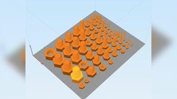 Imagem de Coisas para imprimir em 3D: Porcas e parafusos métricos mais comuns - M2 a M20