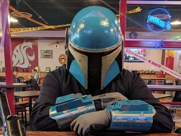 This Mandalorian helmet is the perfect start to your next cosplay