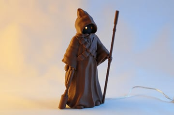 This Jawa can be printed as a single piece!