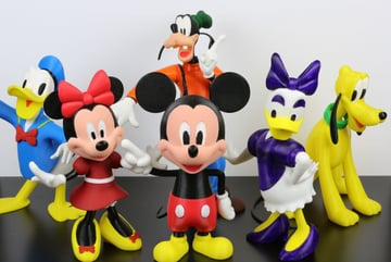 These 3D printed Disney characters are a great addition to any desk space