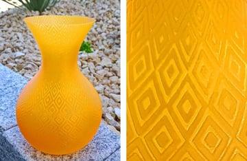 A subtle pattern on a vase