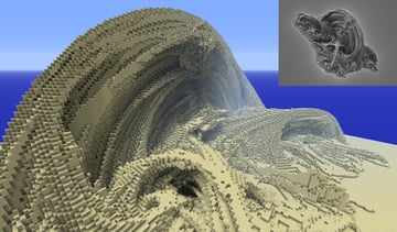 A fractal object imported into Minecraft