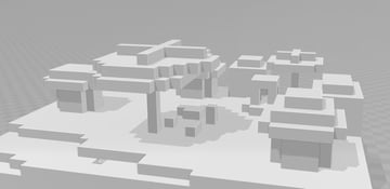 The 3D model of the exported village