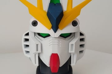 This Gundam bust is modeled according to the movie