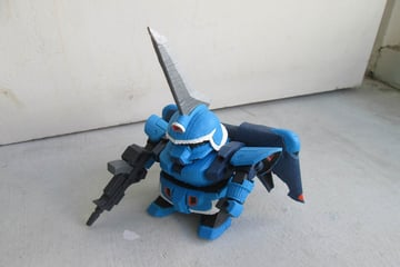 This Super Deformed model is based on the older versions released by Bandai
