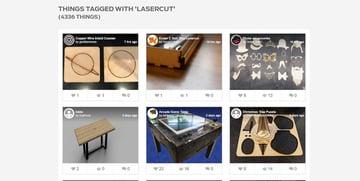 Laser-cut designs on Thingiverse
