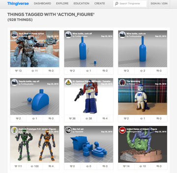 Thingiverse is a good place to start searching for action figures to print