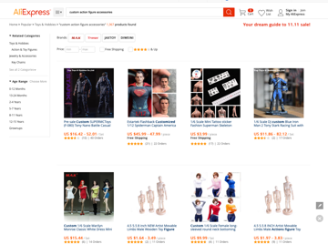 AliExpress offers a vast selection of action figure accessories