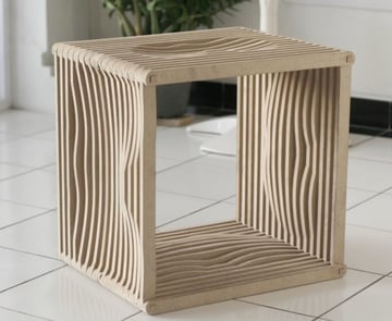 A fitted plywood stool for more comfortable sitting
