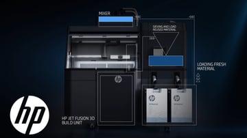 The HP Multi Jet Fusion 3D printer