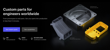 The 3D Hubs website is one of the easiest to use