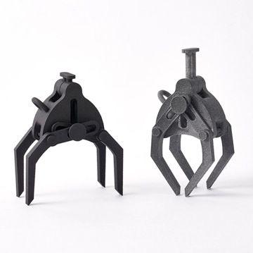 A crane claw prototype made with MJF