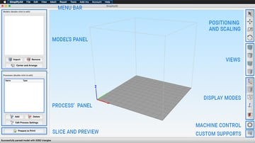 Simplify3D's main interface
