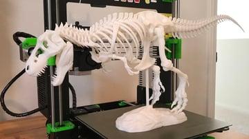 A T-Rex printed in PLA plus
