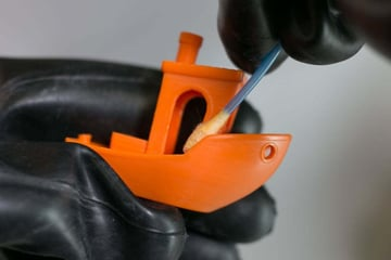 You can still get impressive results by post-processing PLA parts