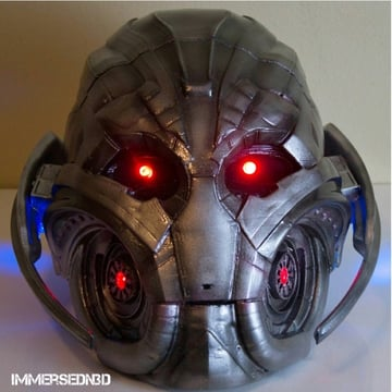Ultron Mask with LED lights