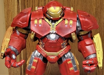The Hulkbuster, fully painted and standing tall