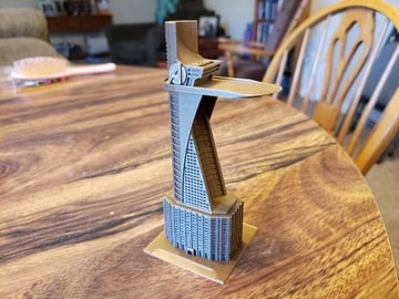 The miniaturized version of Avengers Tower