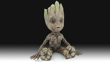 A Baby Groot model with some fantastic post-processing