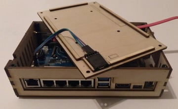 The R2 in a stylish laser-cut case