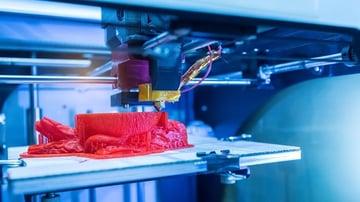 An FDM print in process