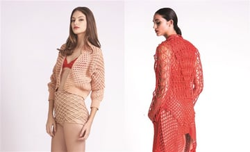 A one-of-a-kind 3D printed dress