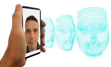 Creating a 3D selfie is a delicate process