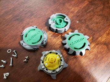 Littlefiver's Beyblades are customizable