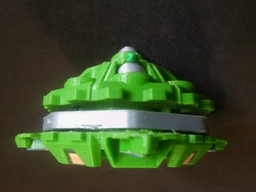 This model is a replica of the Draciel Shield Beyblade