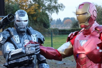 Many of Iron Man's printed parts are similar to War Machine, which is also 3D printable