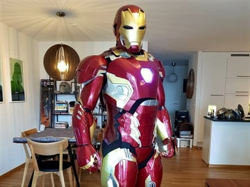 This Iron Man MK45 suit is comfortable to wear, when printed with flexible joints