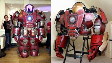 This partially 3D printed Hulkbuster suit is almost beyond words