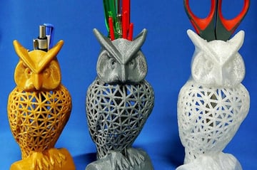 These pencil holders don't just look great, they also look back