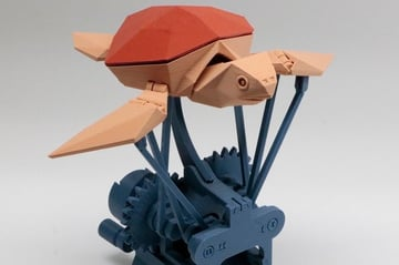 The base of this model allows it to mimic the serene motion of a swimming sea turtle