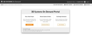 3D Systems' on-demand service