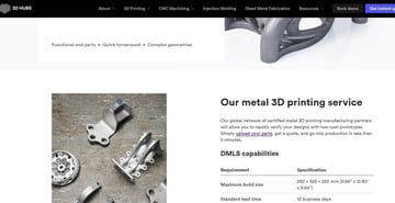Some details from 3D Hubs' metal 3D printing service