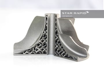 A 3D printed metal part by Starrapid