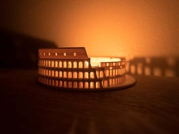 The lights make this Colosseum even cooler!