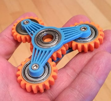 This planetary gear fidget spinner is sure to keep your friends occupied for hours