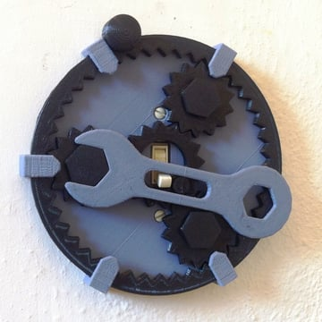 This fully functional planetary gear light switch is the perfect thing for the gear head in your life