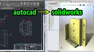 AutoCAD and SolidWorks both help you design your projects, down to the last detail