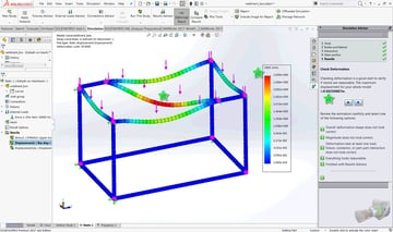 With SolidWorks' simulations, you can put your design through all sorts of real-world tests before it's made