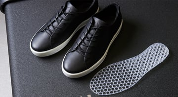 Ecco's shoes with custom-made midsoles