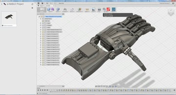 The Autodesk Fusion 360 in use
