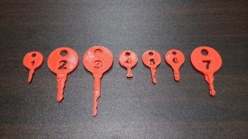 All seven of the TSA master keys