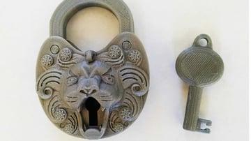 The decorative lion lock