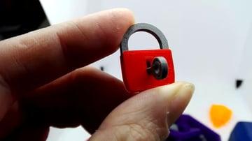 A mini 3D printed lock
