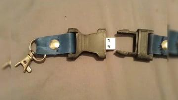 Imagem de Coisas para imprimir em 3D: USB escondido em cordão afivelado