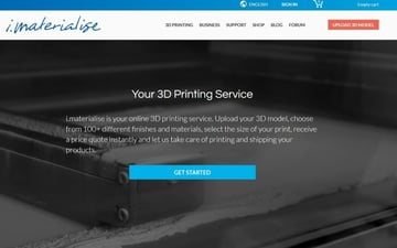The i.Materialise main webpage