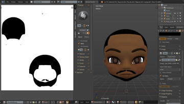 The texture paint tool lets you shade, color, and add texture to your character model